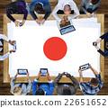 Japan Flag Patriotism Japanese Pride Unity Concept 22651652