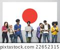 Japan Flag Patriotism Japanese Pride Unity Concept 22652315