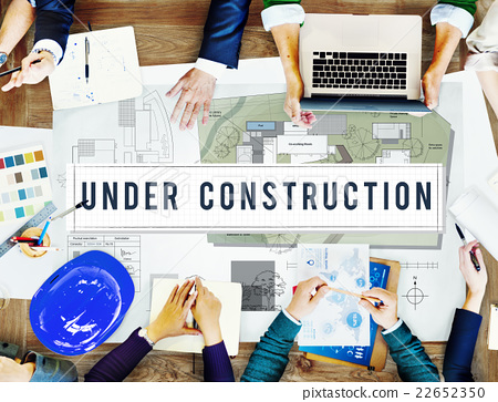 Under Construction Project Attention Building Concept 22652350