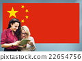 China National Flag Studying Women Students Concept 22654756