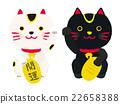 招財貓 吉祥物 小貓 22658388
