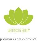 Green lotus icon 22665121