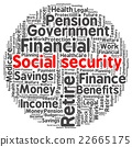Social security word cloud 22665175
