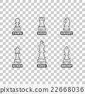 Chess figures, vector illustration. 22668036