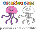 jellyfish, coloring book 22669665