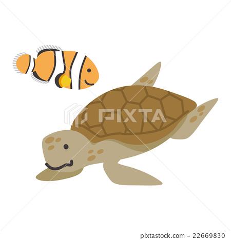 小丑魚 海龜 矢量 22669830