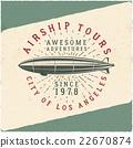 Vintage airship tee design. Retro Dirigible poster 22670874
