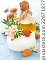 Soap, oil and herbs. 22671877