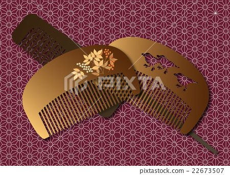 Japanese-style comb 22673507