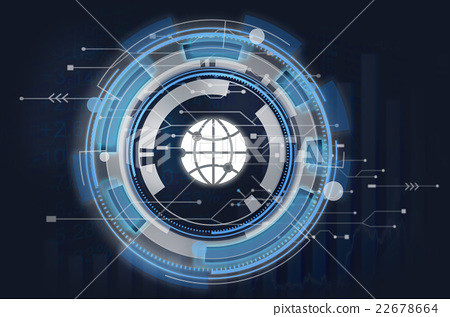Information Technology Graphic Global Icon Concept 22678664
