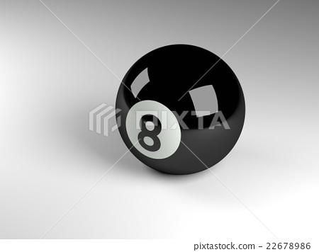 Eight ball 3d render 22678986