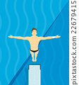 An athlete Jumps from diving board design Illustra 22679415