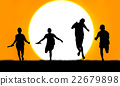 sport young boy  running  go to the winner  22679898