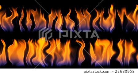 火焰紋理背景(無縫接圖,高分辨率 3D CG 渲染∕著色插圖) 22680958