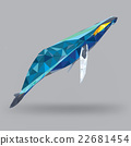 Whale in geometric low polygon style 22681454