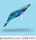 Whale in geometric low polygon style 22681455