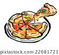 食品 披薩 食物 22681723