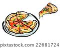 붓 그리기 식품 피자 22681724