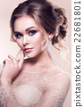 Beautiful bride with fashion wedding hairstyle - 22681801
