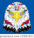 American Eagle with geometric pattern vector 22681921