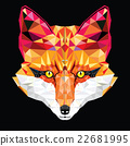Fox head in geometric pattern 22681995