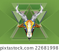 Geometric pattern goat 22681998