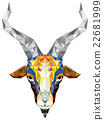 Geometric pattern goat 22681999