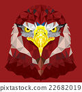 Red Eagle with geometric pattern vector 22682019