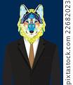 Wolf  man geometric style 22682023
