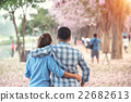 Couple enjoying to see the cherry blossom 22682613
