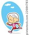 一位奶奶跑著清新爽口 22684783