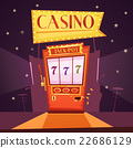 Casino Retro Cartoon Illustration 22686129