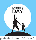 Father Day Holiday, Silhouette Son Dad Hold Hands 22686673