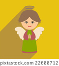 flat icon with long shadow Christmas angel 22688712