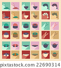 Flat shadow concept and mobile Japanese snacks 22690314