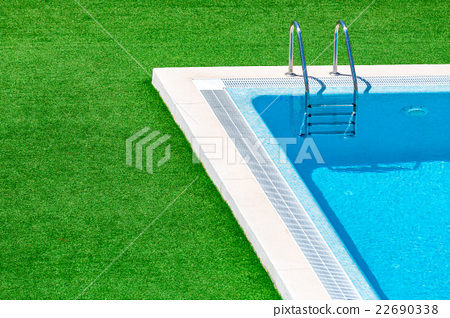 Stock Photo: Swimming pool with stair in hotel resort