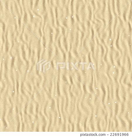 鮮豔細緻的沙丘/沙灘特寫材質紋理背景,俯視圖(無縫接圖,高解析度 3D CG 渲染∕著色插圖) 22691966