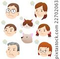 家族 怒る 顔セット 22702063