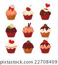 vector, cake, cupcake 22708409