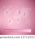 Breast cancer awarenss pink ribbon and map design 22712033