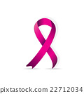 Breast cancer logo for poster, pink ribbon 22712034