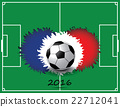 soccer ball with france flag colors 22712041