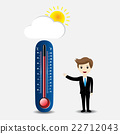 businessman with hot thermometer 22712043