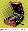 Phonograph vinyl record player 22714923