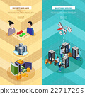 Two Datacenter Isometric Vertical Banners  22717295