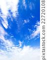 藍天天空雲彩初夏天空背景材料6月 22720108