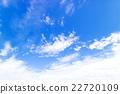 藍天天空雲彩初夏天空背景材料6月 22720109