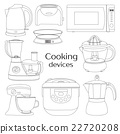 Cooking devices, icons set 22720208