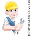 man, mechanic, vector 22720316