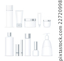 Set of Bottles for Cosmetics Isolated 22720998
